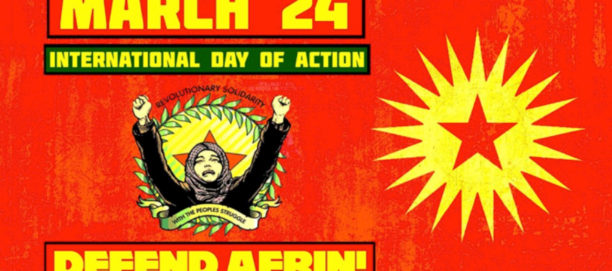 AFRIN IS NOT ALONE!WORLD DAY FOR AFRINMARCH 24