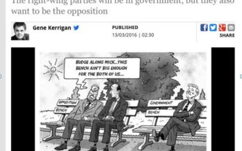 IRISH ELECTION UPHEAVAL, 2.NO GOVERNMENT.Anyone Notice Any Difference?